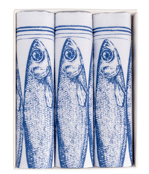 Hand Printed Cotton Sardine Handkerchiefs