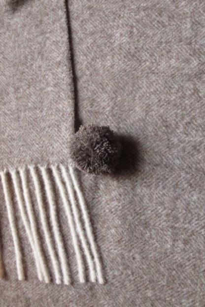 The Spanish Wool Poncho Donkey Grey Detail