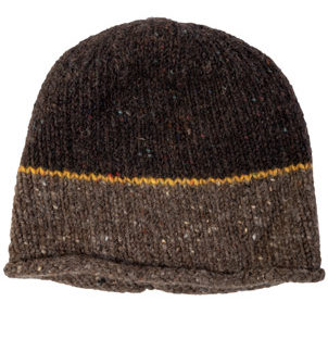 The Donegal  Wool Beanie Hat - Nut Brown