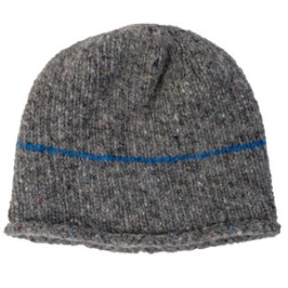The Donegal Wool Beanie Hat - Dove Grey