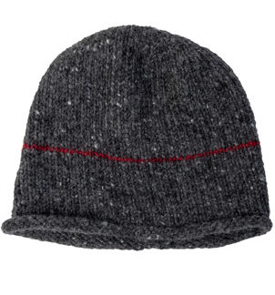 The Donegal Wool Beanie Hat - Charcoal Grey