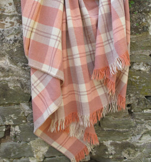 Old Welsh Blanket, Vintage Fringed Throw FT33