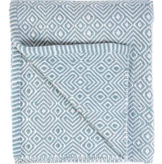 Hand Loomed Rug - Duck Egg Blue