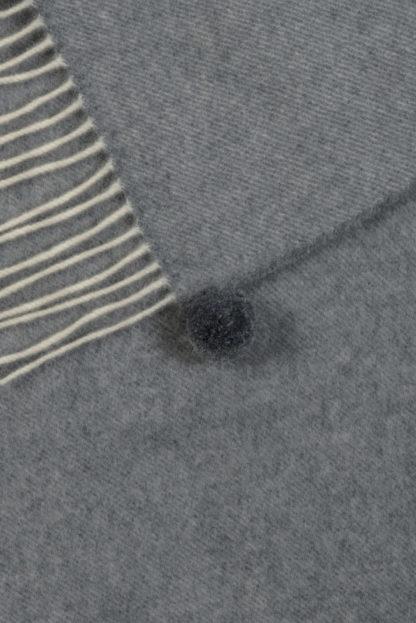 The Spanish Wool Poncho Dark Grey Detail