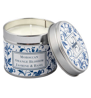 Scented Candle in a Tin - Moroccan Orange Blossom