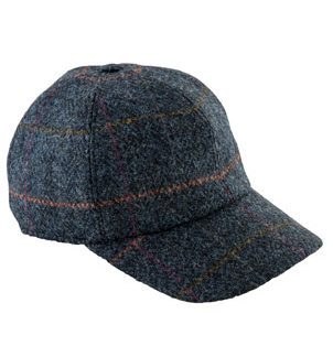 Blue Tweed Baseball Cap