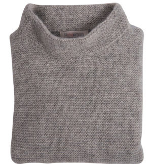 Womens Pebble Grey Wool Jumper