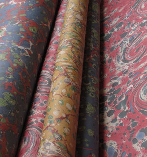 Hand Marbled Wrapping Paper