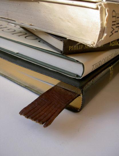 Russian Reindeer Leather Bookmark 3