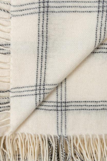 Big Check Alpaca Wool Throw Detail