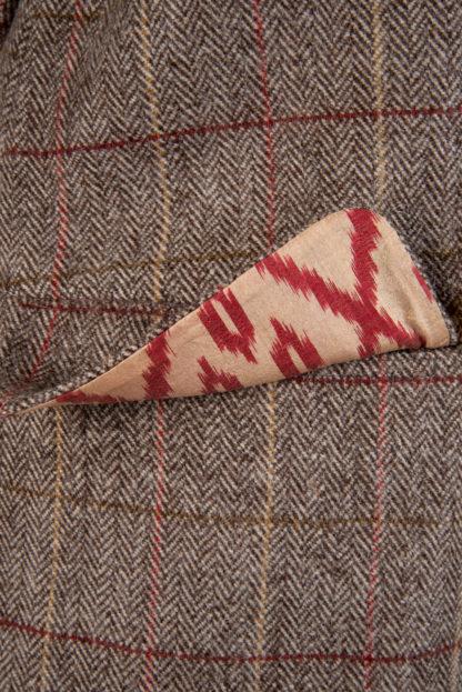 The HImal Womens Wool Tweed Jacket Detail 3