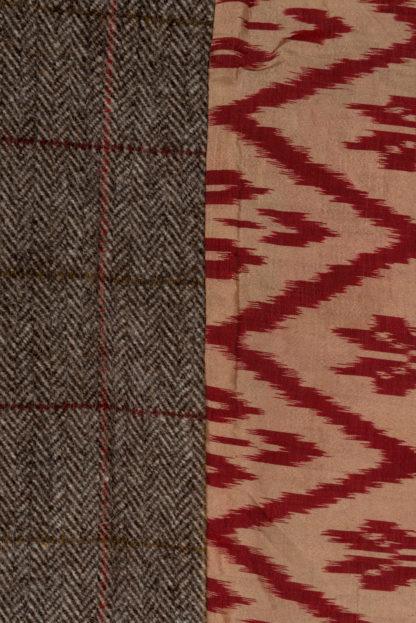The HImal Womens Wool Tweed Jacket Detail 2