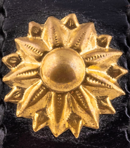Brass Stud Blazing Star Detail