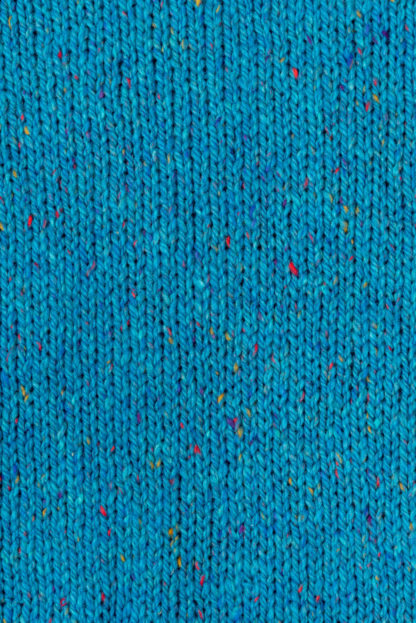 Womens Turquoise-Wool Round-Neck-Jumper-Detail