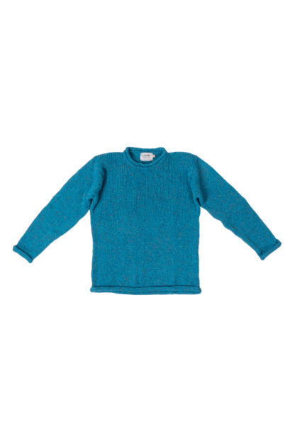 Womens Turquoise-Wool Round-Neck-Jumper