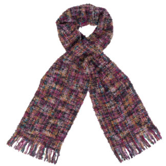Irish Mohair Purple Wool Scarf