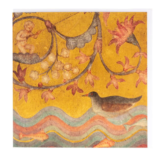 Bird-On-A-Pond Greeting Card by Phoebe Traquair