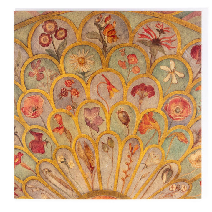 Floral Greeting Card by Phoebe Traquair