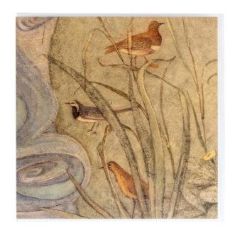 Wagtail Greeting Card by Phoebe Traquair
