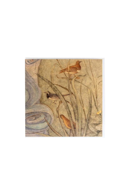 Wagtail Greeting Card by Phoebe Traquair