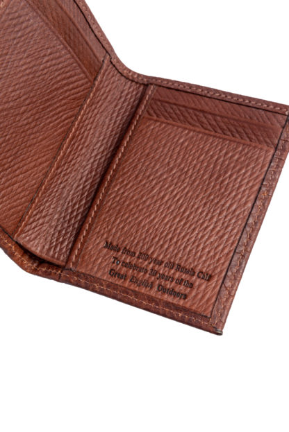 Russian Reindeer Leather Two Fold Wallet - Detail