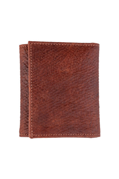 Russian Reindeer Leather Two Fold Wallet - Folded