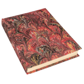 Hand Marbled Red Notebook