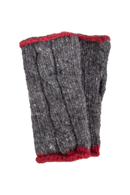 The Donegal-Wool Mittens-Charcoal-Grey
