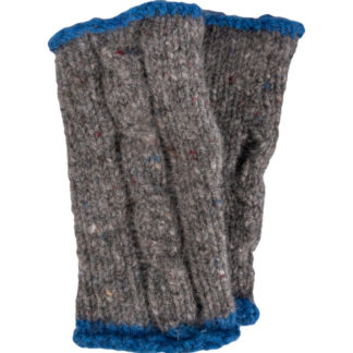 The Donegal-Wool Mittens-Dove-Grey