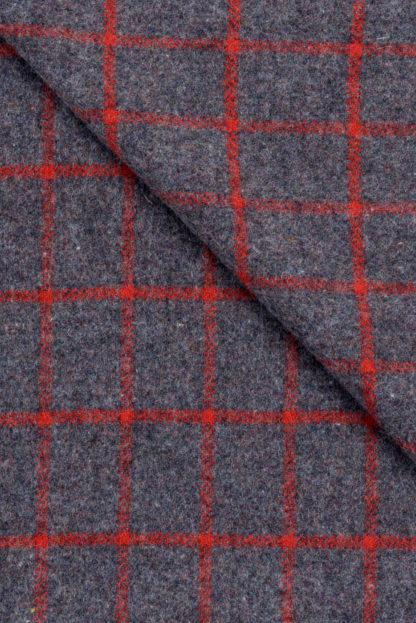 Kilarney Blanket Tangerine Grey check