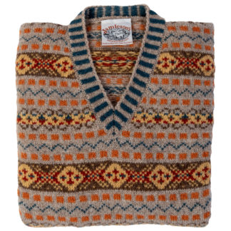 Prince of Wales Fair Isle Tank Top Folded