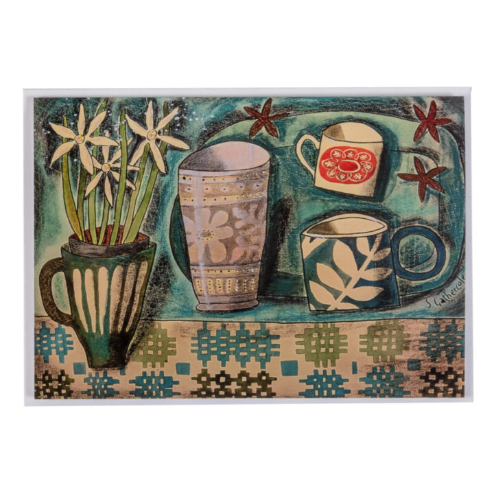 Blue Welsh Tapestry Card