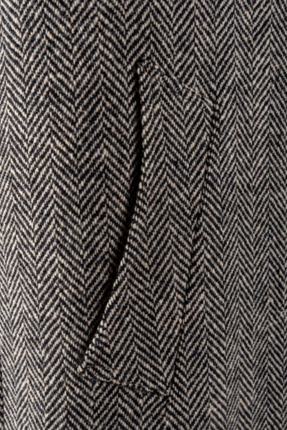 The Corrib - Mens Classic Tweed Overcoat Pocket Detail