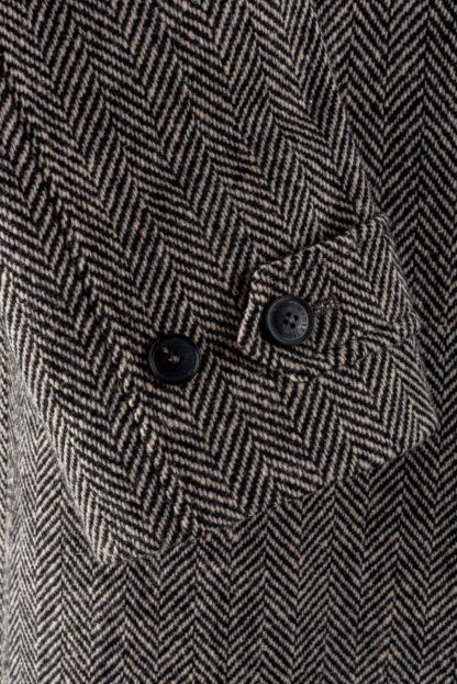 The Corrib - Mens Classic Tweed Overcoat Cuff Detail