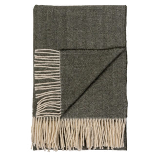 Spanish Fringed Throw - Forest Green