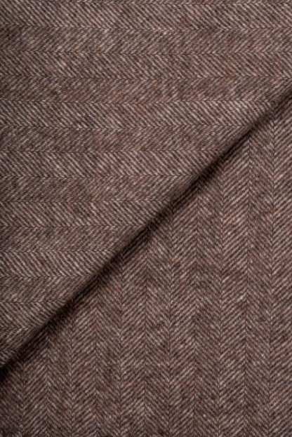 Spanish Fringed Throw - Mink Detail