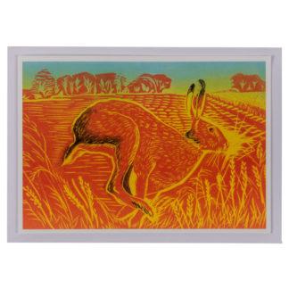 Running Hare Greeting Card