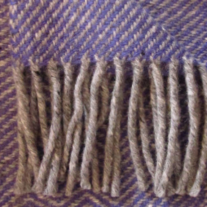 Meadow-Wool Throws-Bluebell Blue-Detail