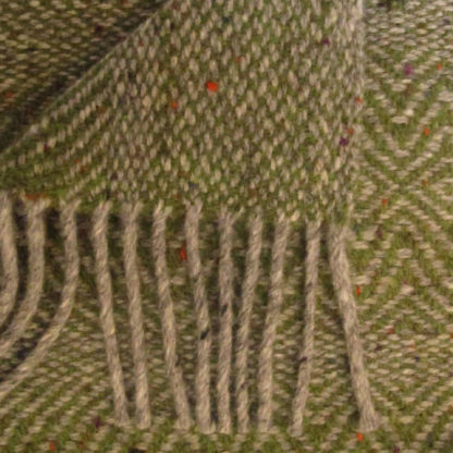 Meadow-Wool Throws-Orchard Green-Detail