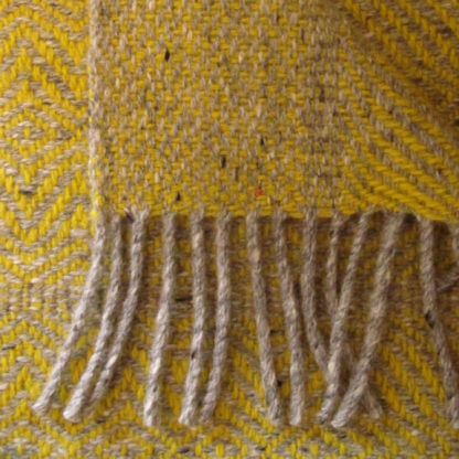 Meadow-Wool Throws-Buttercup Yellow-Detail
