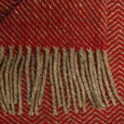 Meadow Wool-Throws-Poppy-Red-Detail