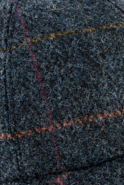 Blue Tweed Baseball Cap Detail
