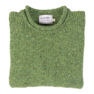 Womens Lime Green Roll Neck Jumper Folded