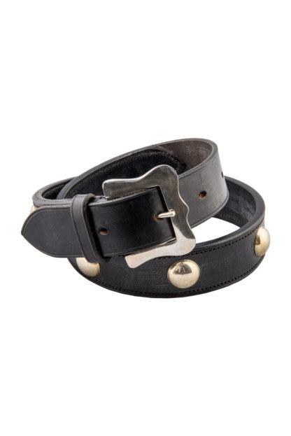 The Ostler Black Leather Belt