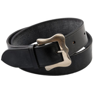 The Ploughmans Black Leather Belt