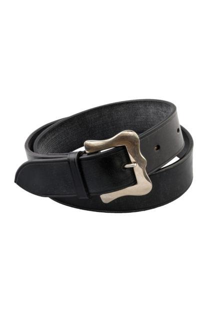 The Ploughmans Black Leather Belt