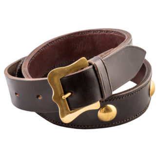 The Ostler Dark Brown Leather Belt