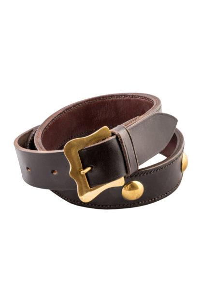 The Ostler Dark Brown Leather Belt