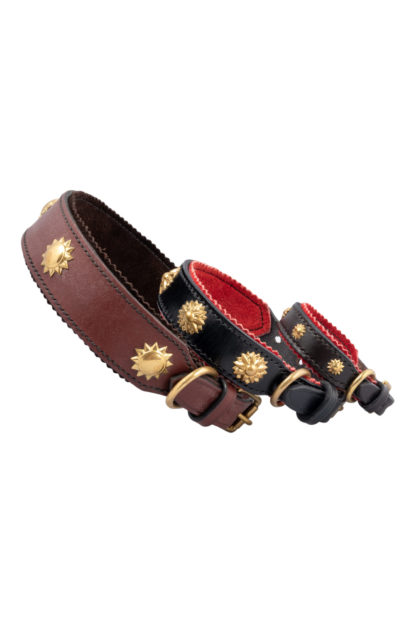 Leather Studded Dog Collars 2