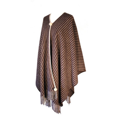 The Horsemans-Wool Poncho-Brown